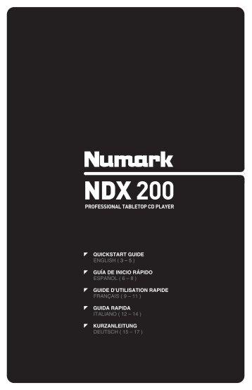 NDX 200 - Quickstart Guide - v1.4 - Numark