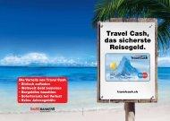 Travel Cash, das sicherste Reisegeld.