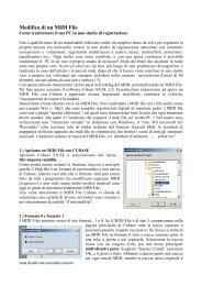 modificare i midifile con Cubase SX. - ArteStudio53