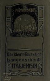 Der kleine Toussaint-Langenscheidt, mit Angabe der Aussprache ...