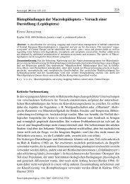 Biotopbindungen der Macrolepidoptera – Versuch einer Darstellung ...