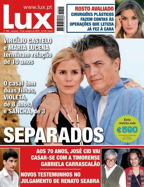 Virgílio Castelo E Maria Lucena Terminam Relação De 10