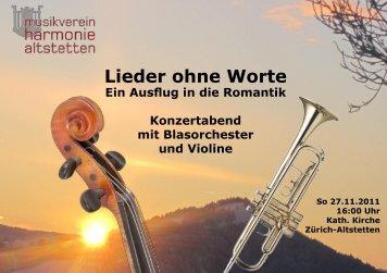 Programm (PDF) - Musikverein Harmonie Altstetten