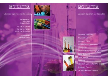 Laboratory Equipment and Accessories - MC-Latra