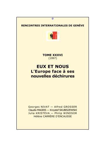 Eux et nous - Rencontres Internationales de Genève