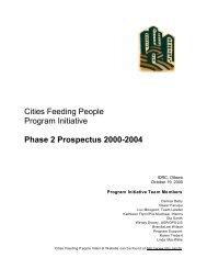 Cities Feeding People Program Initiative Phase 2 Prospectus 2000 ...