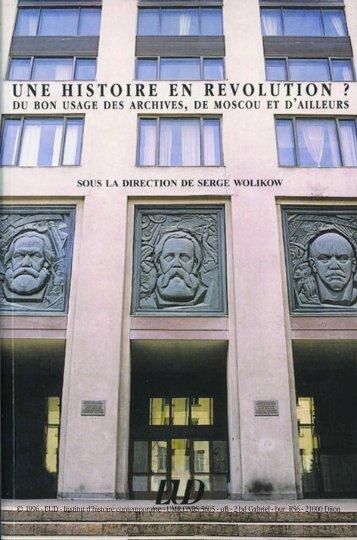 EUD - Institut d'histoire contemporaine - Centre Georges Chevrier ...