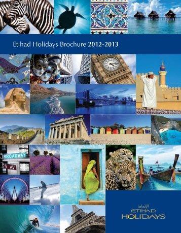 Download our Global Brochure 2012-13 (English) - Etihad Holidays