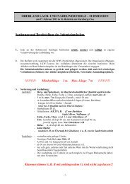 Aushaltungskriterien für Submissionshölzer - WBV Holzkirchen