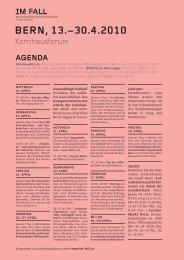 Agenda Bern - Im Fall