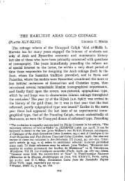'The earliest Arab gold coinage