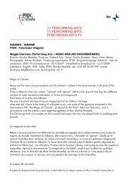 Scarica TV Performing Arts (formato pdf) - Prix Italia 2009