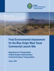 Final Environmental Assessment for the Blue Origin West ... - FAA