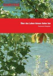 Testament-Ratgeber - Caritas Bern