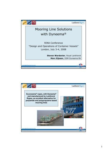 Mooring Line Solutions with Dyneema® - Lankhorst Ropes