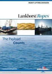 Download Heavy Lifting brochure - Lankhorst Ropes