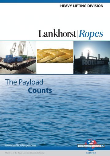 Download Heavy Lifting brochure - Lankhorst Ropes