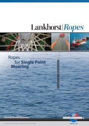 Ropes for Single Point Mooring - Lankhorst Ropes