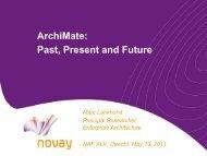 The ArchiMate Standard for Enterprise Architecture Modelling - Naf