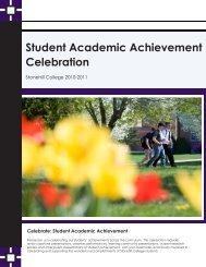 Student Academic Achievement Celebration - Stonehill College