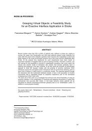 Grasping Virtual Objects: a Feasibility Study for an Enactive Interface ...