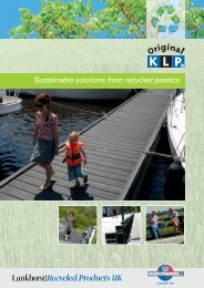 Download our general brochure - recycled plastic products