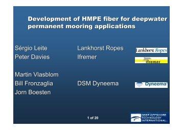 Download presentation here - Lankhorst Ropes