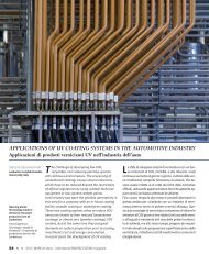 APPLICATIONS OF UV COATING SYSTEMS IN THE ... - Krauss GmbH