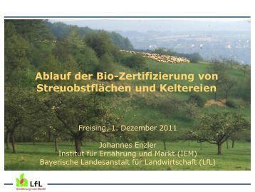 Vortrag Johannes Enzler - Bayerische Landesanstalt für ...