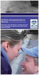 Arche RV Flyer - Arche Ravensburg - Arche Deutschland