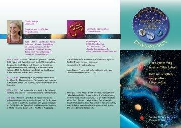 Flyer - spirituelle seelenwelten