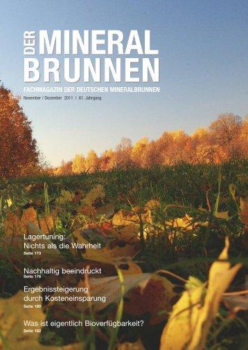 Fachmagazin der Deutschen Mineralbrunnen - Verband Deutscher ...