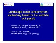 Landscape-scale conservation - British Ecological Society