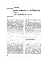 Habitat fragmentation and landscape change - Society for ...