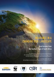 Insurance in a Changing Risk Landscape - UNEP Finance Initiative