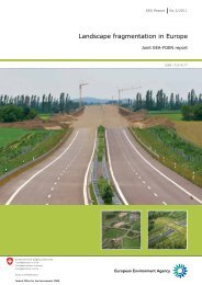 Landscape fragmentation in Europe - European Environment ...
