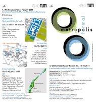 16.10.2011 4. Weihenstephaner Forum 2011 - Studienfakultät ...
