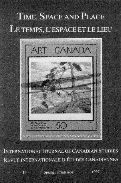 International Journal Of Canadian Studies Revue Internationale D