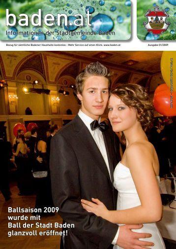 Ballsaison 2009 wurde mit Ball der Stadt Baden glanzvoll eröffnet!