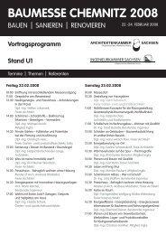 Vortragsprogramm - Architektenkammer Sachsen