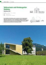 Volksschule und Kindergarten Satteins - Zement.at