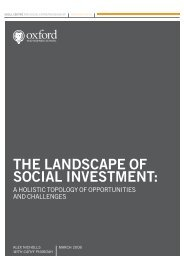 The Landscape of Social Investment - Said Business School ...