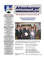 Gemeindenachrichten 01/2011 (4,31 MB) - Altenburg