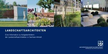 LANDSCHAFTSARCHITEKTEN - Architektenkammer Sachsen-Anhalt