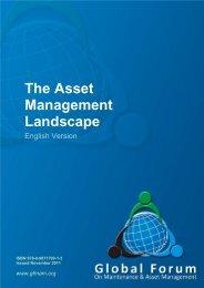 The Asset Management Landscape - Global Forum On Maintenance ...