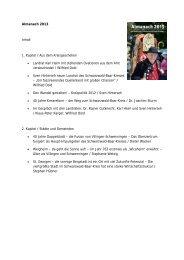 Inhaltsverzeichnisse der Jahrgänge 2006 bis 2013 - Landratsamt ...