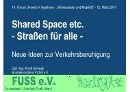 Shared Space etc. - Straßen für alle - - Landkreis Mainz-Bingen