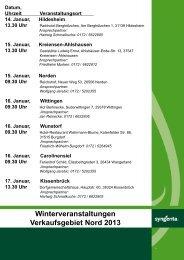 Winterveranstaltungen 2013 Niedersachsen und Weser ... - Syngenta