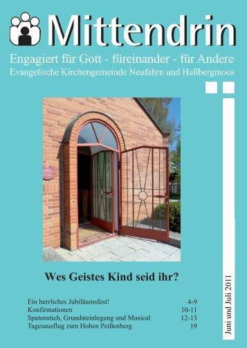 Gemeindebrief 2011-03 - Evang.-luth. Kirchengemeinde Neufahrn ...
