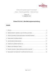 Entwicklungskonzept Innenstadt Ziele - Handlungsfelder ...
